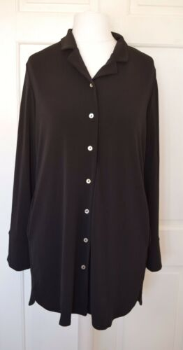 Shirt Marlawynne Uk M New Black Lux Size Bnwt Crepe Tunic qnAwagAtv
