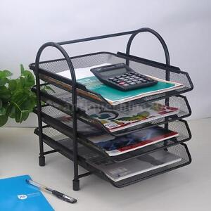 4 Tier File Doent Letter Paper Tray