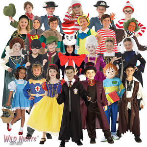 BOYS-GIRLS-KIDS-WORLD-BOOK-WEEK-DAY-CHILDREN-039-S-FANCY-DRESS-COSTUME-SIZE-3-13