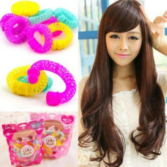 8541 DIY Hair Sticks Hair Curlers Tool Donut Roll Fast Curlers Shaper Big -1 Bag