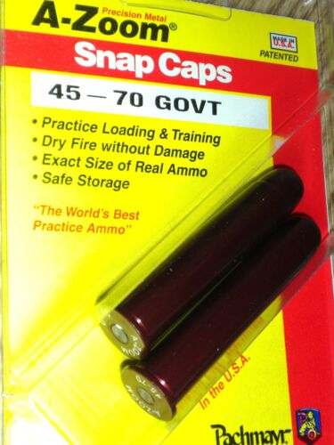 70 Government   # 12231   New! A-ZOOM Action Proving Dummy Round Snap Cap 45