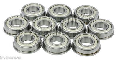 Flange Metal Double Shielded Ball Bearings 4*11*4 10 PCS 4x11x4 mm F694zz
