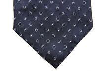 Battisti Tie Navy blue with white neat pattern, 7-fold, pure silk
