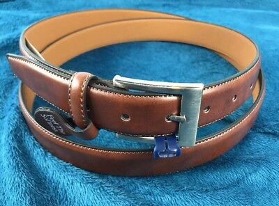 Croft /& Barrow Big and Tall Belt Brown Silver Buckle New NWT  50 52