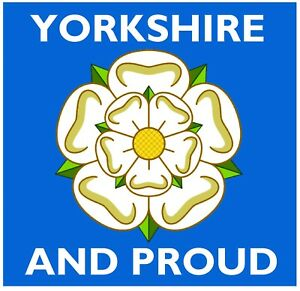 1 FREE BRAND NEW YORKSHIRE FLAG GIFTS FUN NOVELTY CAR // WINDOW STICKER