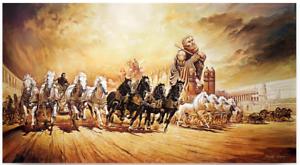 Ben-Hur-von-Renato-Casaro-Poster-Kunstdruck-Wagenrennen-Bild-Film-Heston-138x75