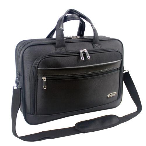 Da Uomo Nera Borsa per laptop valigetta Lavoro Ufficio Borsa a tracolla alta qualità 8208
