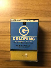 VINTAGE GOLDRING S.79/1 SR REPLACEMENT SAPPHIRE STYLUS FOR ACOS CERAMIC GP81/1