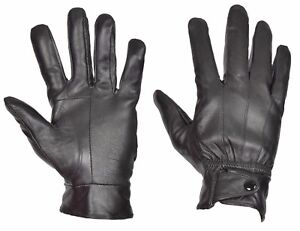 41154ececef87 Image is loading Mens-Genuine-Leather-Gloves-Fleece-Lined-Winter-Warm-