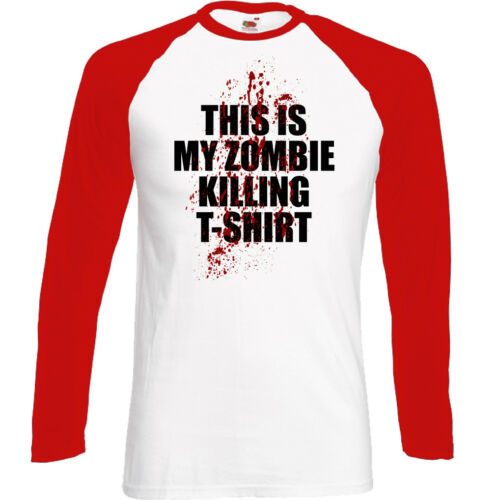 This Is My Zombie Killing T-Shirt Mens Funny Halloween Top The Walking Dead