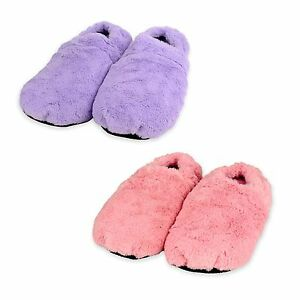 Image Is Loading Zhu Soft Plush Microwave Heated Slippers Wheat