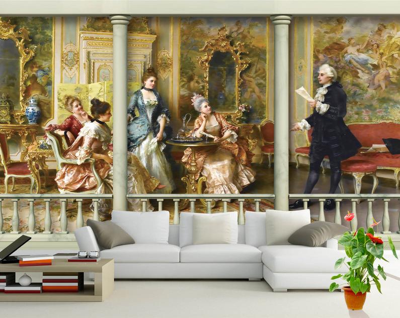 3D European Nobleman 7 Wall Paper Murals Wall Print Wall Wallpaper Mural AU Kyra