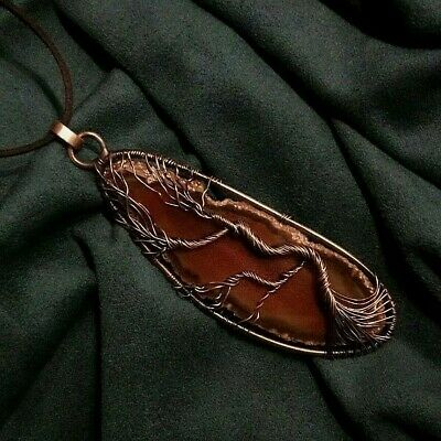 Men/'s Wire Wrapped Agate Tie Clip