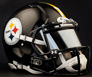 2d8475be113 Image is loading CUSTOM-PITTSBURGH-STEELERS-NFL-Riddell-Speed-AUTHENTIC- Football-