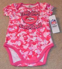 Denver Broncos Baby Girl Loves Football Camo Bodysuit New 6-12 Months