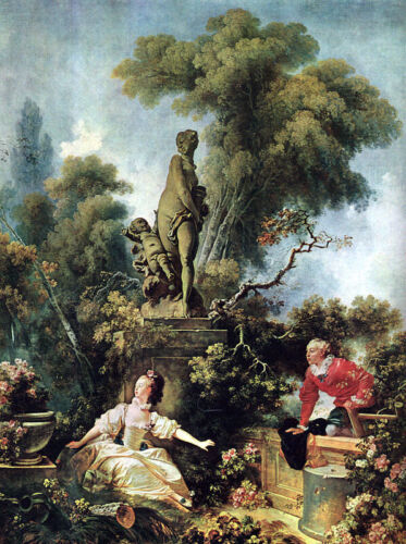 1771 by Jean-Honore Fragonard Giclee Canvas Print The Secret Meeting