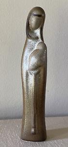 Vintage Howard Pierce Madonna Child Pottery MCM Signed Mother Infant Figurine