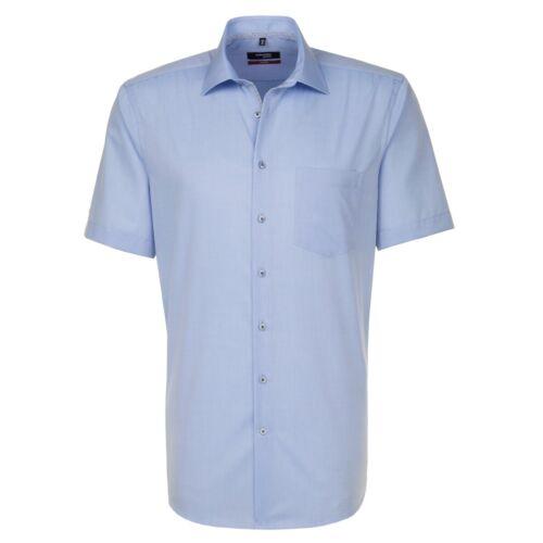 Seidensticker Homme Manches Courtes Business Chemise Modern Kent Bleu 111849.12