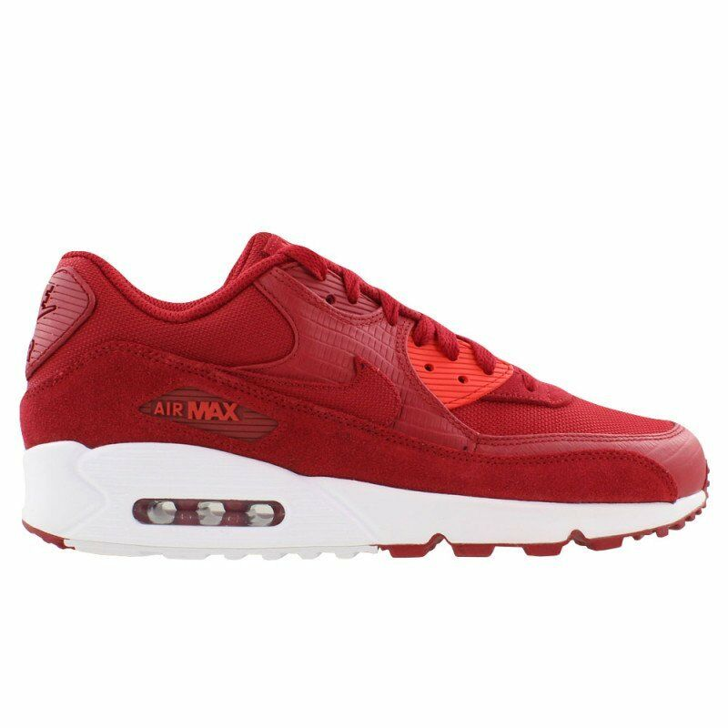 NEW Nike Men's Air Max 90 Premium 700155 602 Gym Red White Size 13 Snakeskin