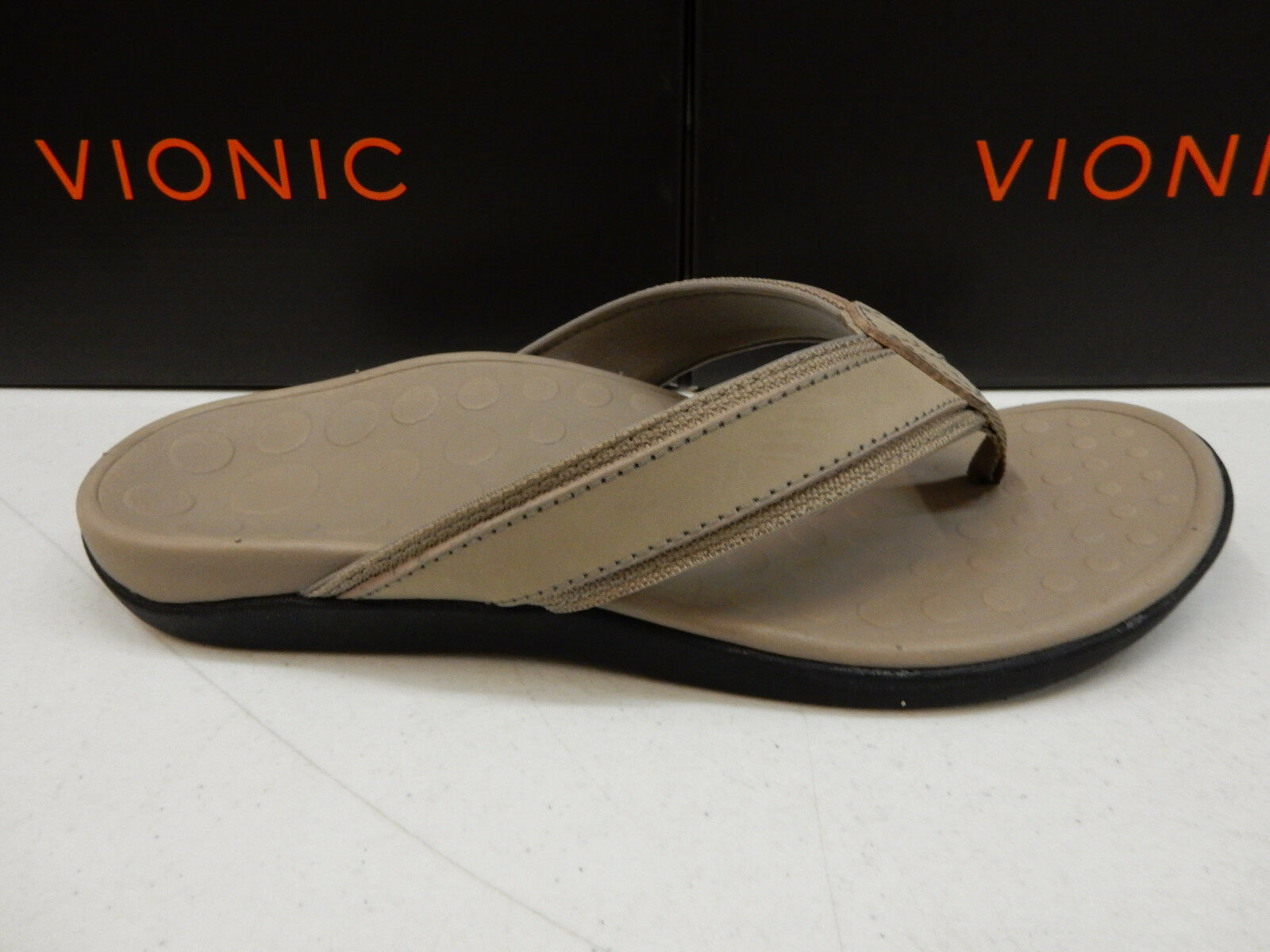 VIONIC Uomo SANDALS TIDE TAUPE SIZE 10