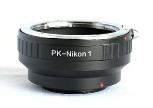 Pentax K PK lens to Nikon 1 mount J1 J2 V1 V2 camera adapter with tripod mount