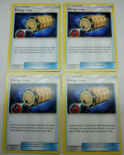 4x Energy Loto Guardians Rising 122//145 Uncommon  Trainer Card