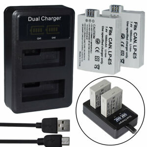 Chargers Usb Battery Charger For Canon Lp-e5 Eos 1000d 450d 500d Kiss F Kiss X2 Rebel Xsi Consumer Electronics