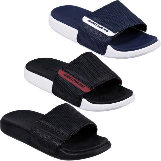 Skechers Gambix Rosney Slides Mens Adjustable Sports Flip Flops Sandals 51807