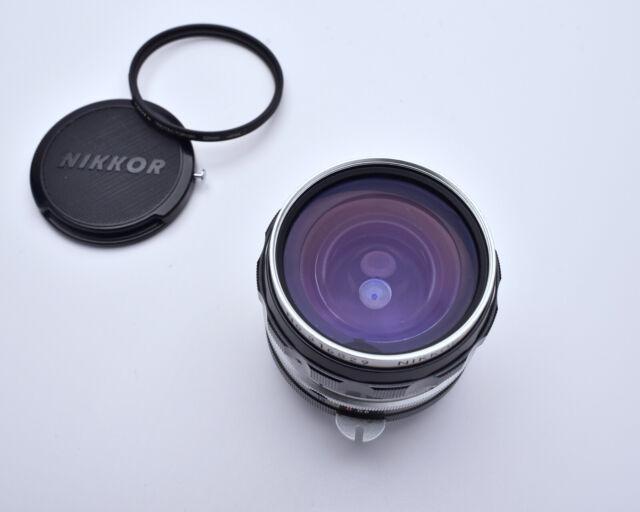 Rare EP Nikon Nippon Kogaku Japan NIKKOR-H Auto 2.8cm (28mm) f/3.5 Lens (#4154)