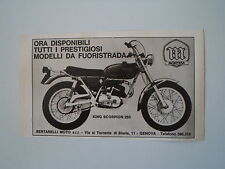 advertising Pubblicità 1971 MOTO MONTESA KING SCORPION 250