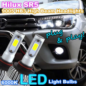 9005 hb3 6000k led bulbs to suit 2015 2018 toyota hilux sr5 high