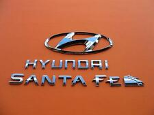 01 02 03 04 05 06 HYUNDAI SANTA FE REAR LID CHROME EMBLEM LOGO BADGE SIGN SET 10