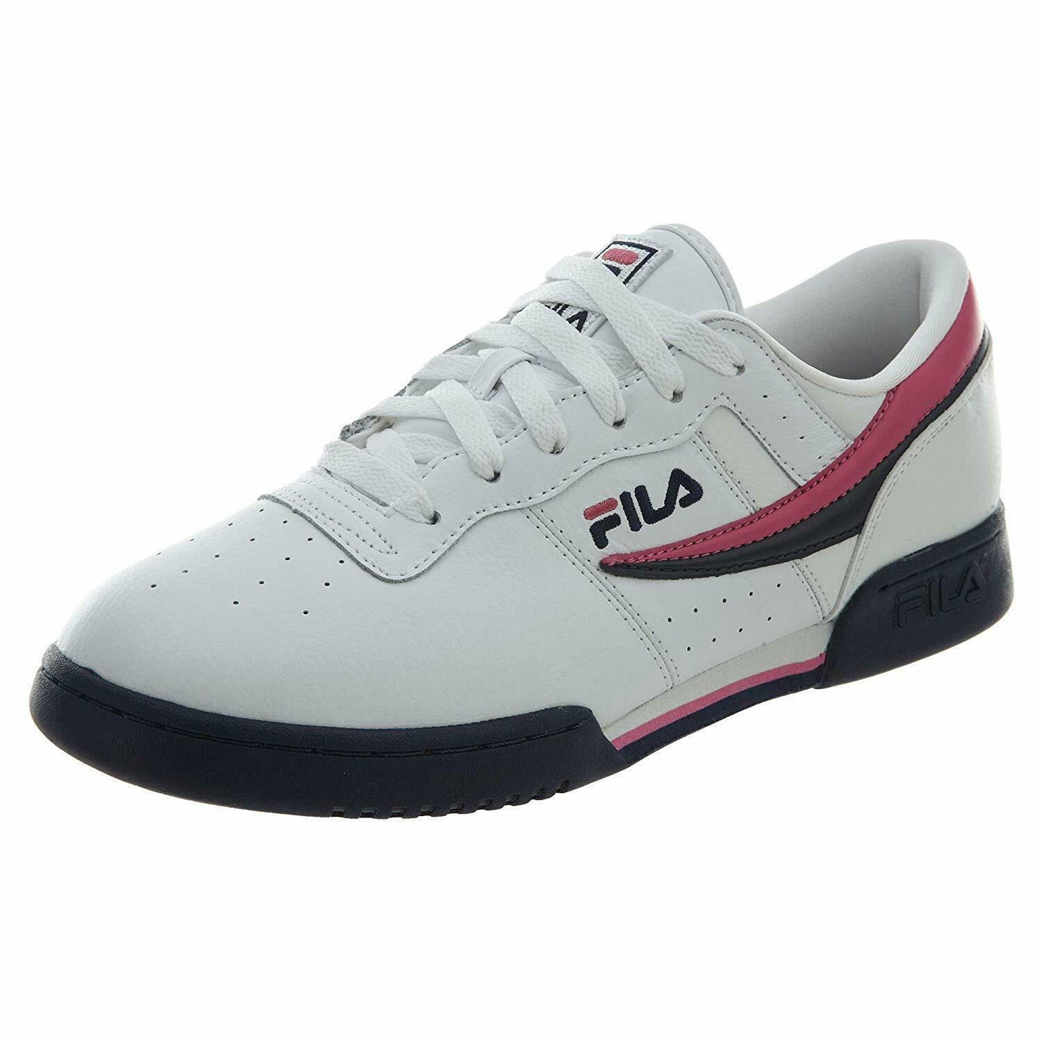 FILA MENS ORIGINAL FITNESS SNEAKERS 1FM00081-148 WHITE NAVY RED