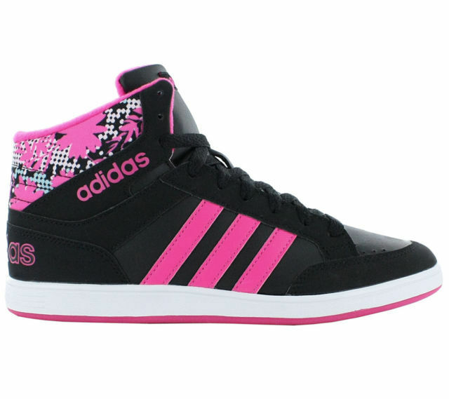 fa0d1fb8c9c Adidas Hoops Mid Shoes Black Girls Sneaker Trainers CG5736 Size C10 RRP  £49.99