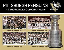 PITTSBURGH PENGUINS 4 TIME CHAMPS 8X10 PHOTO NHL PICTURE STANLEY CUP TEAM
