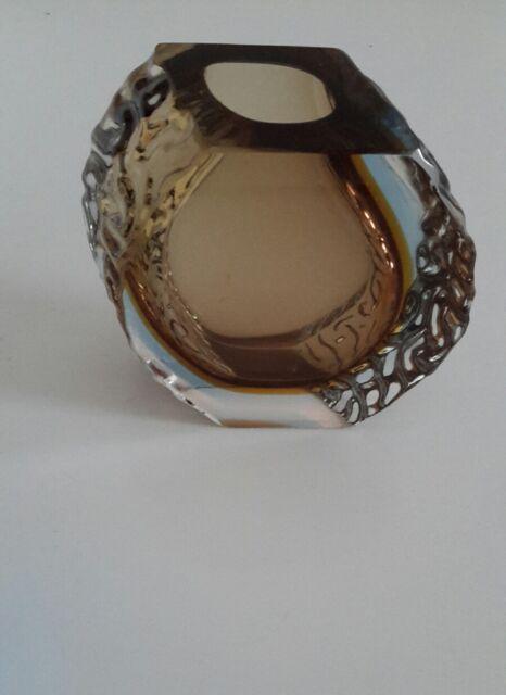 Murano Vase Blockvase / Alessandro Mandruzzato / H ca. 13 cm / Vintage