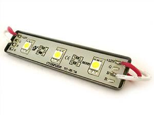 Forma-Ladrillo-LED-3-SMD-5050-Blanco-Hielo-12V-Impermeable-IP67
