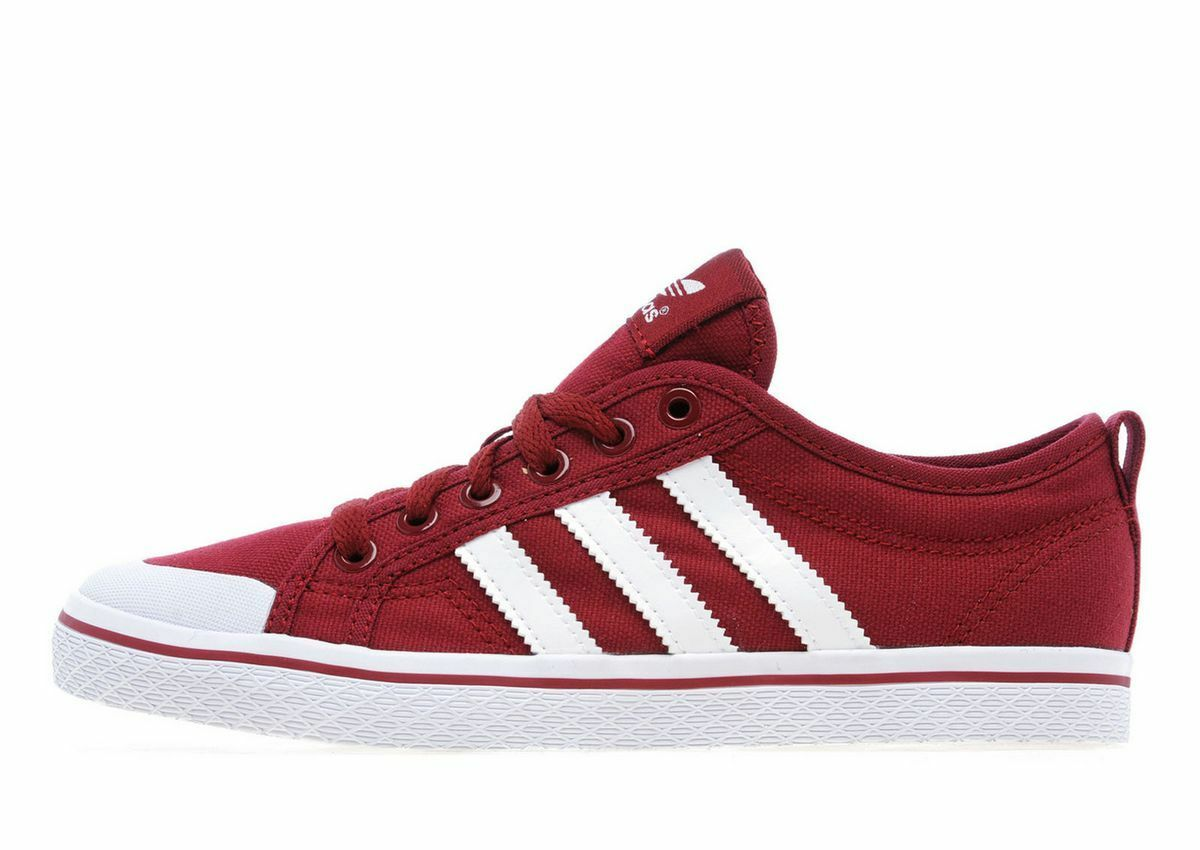 Adidas Original Honey Low Burgundy with Floral Inner Lining UK4 Boxed