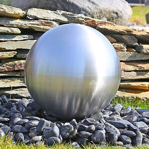 Das Bild Wird Geladen Edelstahl Brunnenkugel  38cm Matt Gebuerstet Fuer Bau Gartenbrunnen