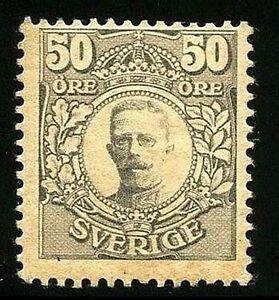 SWEDEN 1912 KING GUSTAF V SC.#89 MH OG CV.$50.00