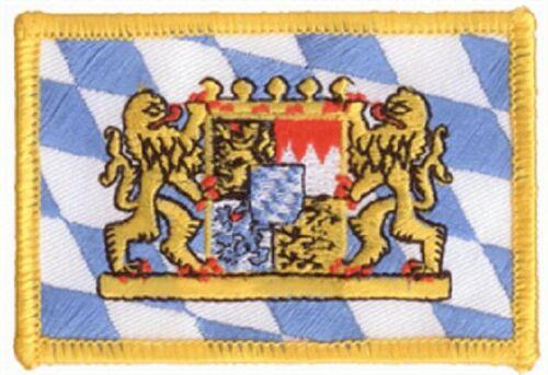 Un Écusson Bavière Drapeau Drapeau Aufbügler Patch 8 x 5 cm