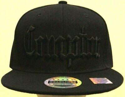 STRAIGHT OUTTA COMPTON CITY LA CA EAZY E DR DRE ICE CUBE NWA SNAPBACK CAP HAT OS