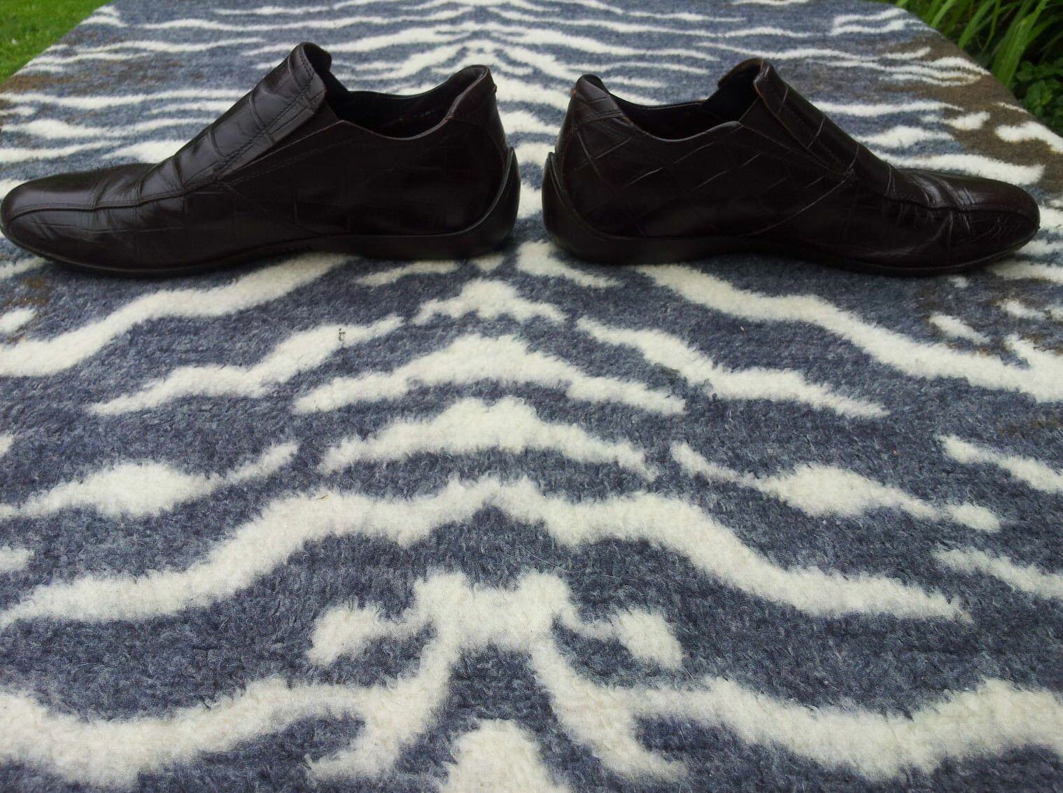 Kurt Geiger Mens Brown Leather Slip on shoes UK size 8