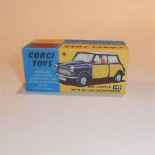 Corgi Toys  249 Morris Mini Cooper Wickerwork empty Repro Box