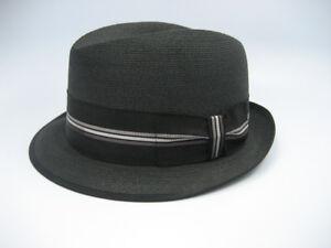 bba38906d Details about Vintage TOWNCRAFT 50's 60's Mens Fedora Hat sz. 7 3/8 Fine  Braid Straw Mad Men