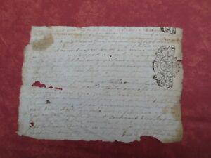 Très Ancienne Lettre Daté De Décembre 1734 Rare (cachet D'auvergne ) Convient Aux Hommes, Femmes Et Enfants