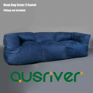 Incredible Details About Classic Office Living Room 3 Person Couch Seater Bean Bag Cover Navy Bb3Pnvy Dailytribune Chair Design For Home Dailytribuneorg