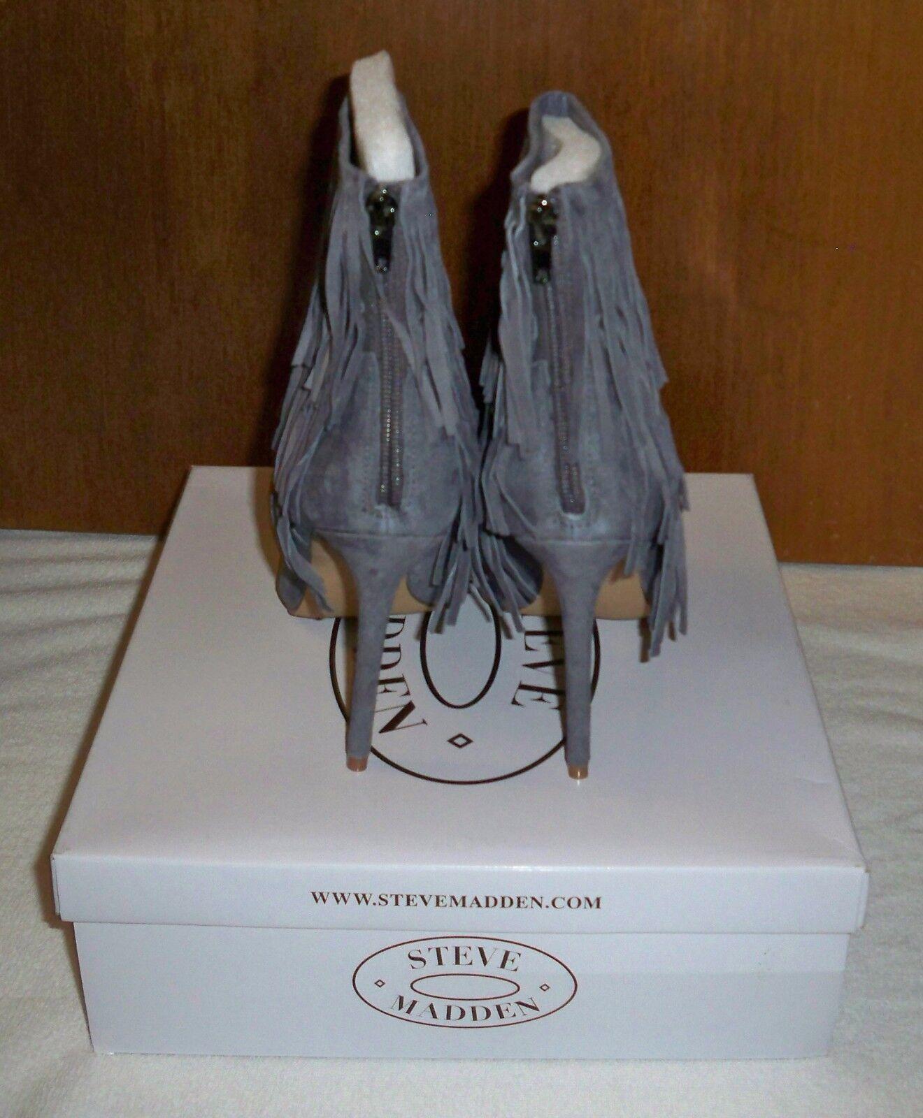 Steve Madden Flapper SZ Gray Fringe Suede Stiefel SZ Flapper 81/2 NIB, BIG SALE 481031