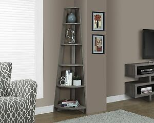 Image Is Loading Reclaimed Look Corner Accent Ladder Bookshelf Bookcase 5