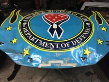 Jeff Gordon Autographed REAL Nascar Race Used Sheet Metal DoD America Supports